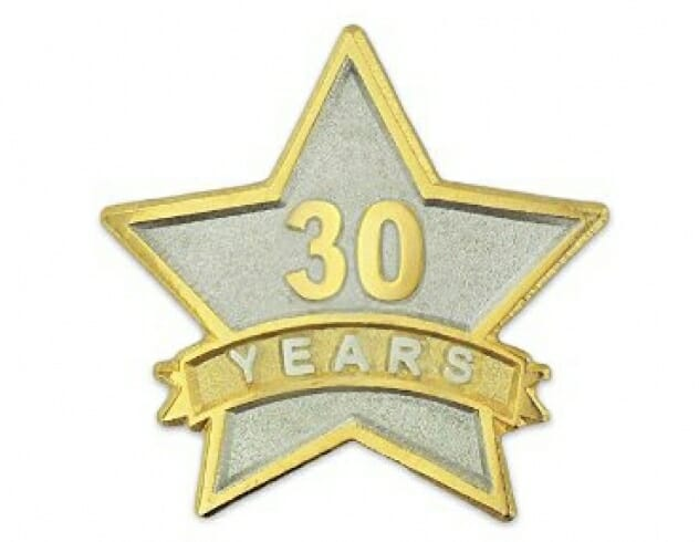 30 Years of Service Star
