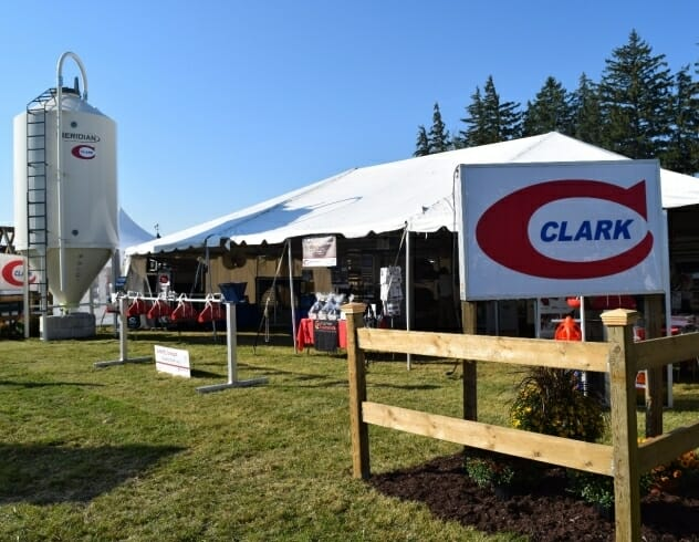 Clark event with a large tent